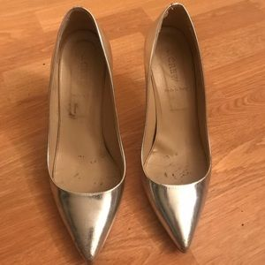 JCREW Silver Stiletto Heels